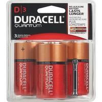 Duracell Quantum D 3Pk Battery