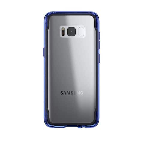 Griffin Survivor Clear Protection: Impact Case for Samsung Galaxy S8 - Clear/Blue