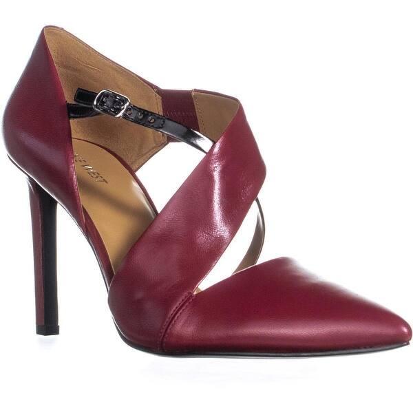 e7dde594399 Shop Nine West Chillice Pointed Toe Buckle Heels, Red/Black - 11 us ...
