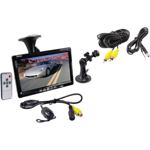"PYLE PRO PLCM7700 7"" Window Suction-Mount LCD Widescreen Monitor & Universal Mount Backup Color Camera with Distance-Scale Line"