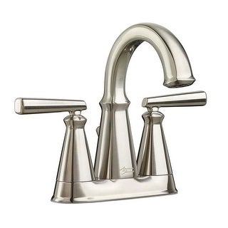 American Standard 7018.201 Edgemere 1.2 GPM Double Handle Centerset Bathroom Faucet - Includes Pop-Up Drain Assembly