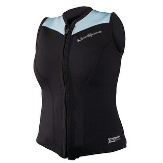 NeoSport 2.5mm Women's X-Span Front Zip Sports Vest - Black/Powder Blue