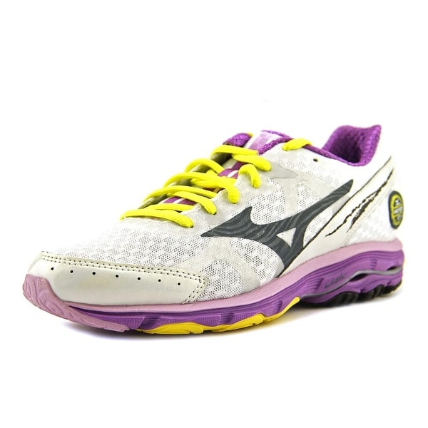 Mizuno Wave Rider 17 Women White/Blue/Purple Running Shoes