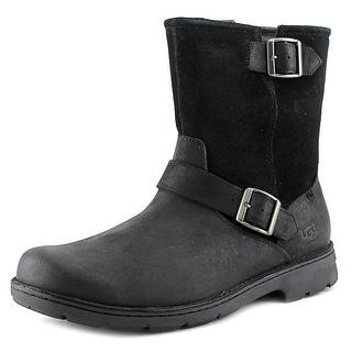 Ugg Australia Messner Men  Round Toe Leather Black Ankle Boot