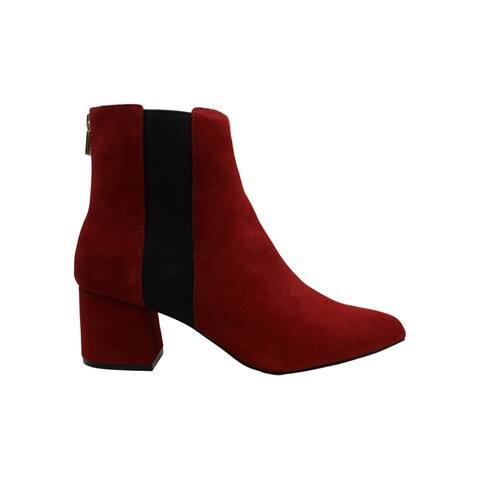 Kenneth Cole Reaction Women's Shoes Kick Block Bootie Leather Pointed Toe Ank...