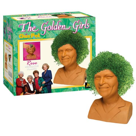 Joseph Enterprises The Golden Girls Rose Chia Pet Chia Head - Betty White Decorative Planter, Classic 1980s TV Sitcom Character