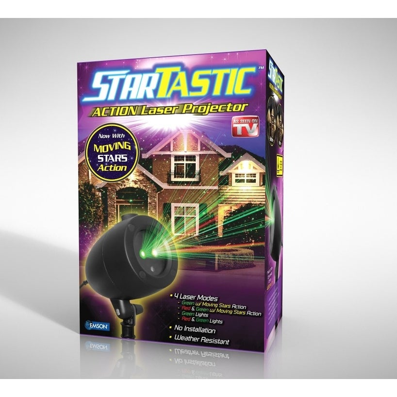 Startastic Motion Holiday Projector The As Seen on TV Laser Light Projector