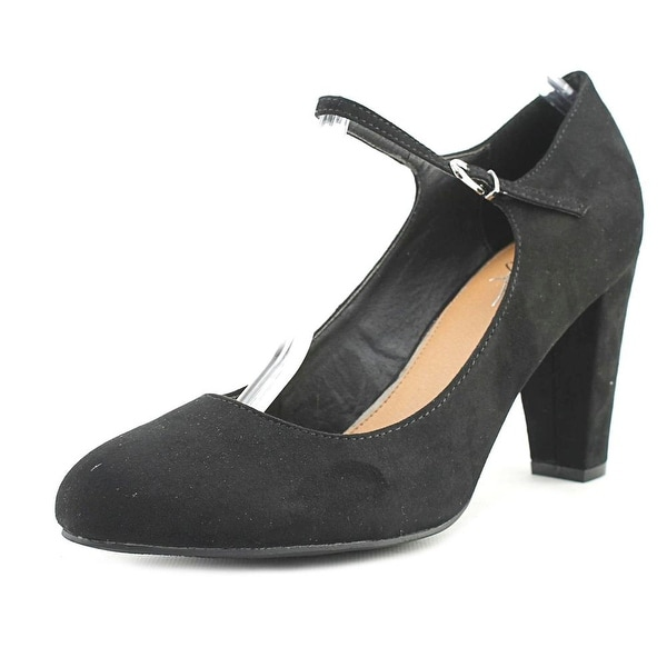 Mari A. Hilaree Women Pointed Toe Suede Black Mary Janes