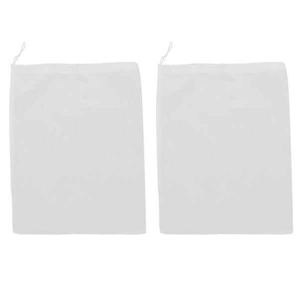 Household Traveling Nonwoven Fabric Portable Rectangle Shoes Pouch Bag 2 Pcs