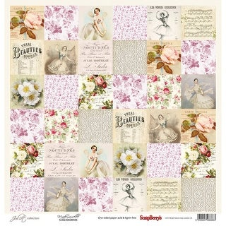 "Scrapberry's Juliet Single-Sided Cardstock 12""X12""-Mademoiselle"