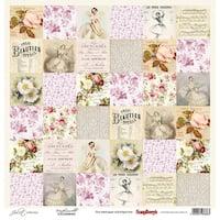 "Scrapberry's Juliet Single-Sided Cardstock 12""X12""-Mademoiselle"