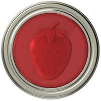Jarware 82633 Starwberry Jelly/Jam Decorative Jar Lid, Regular Mouth