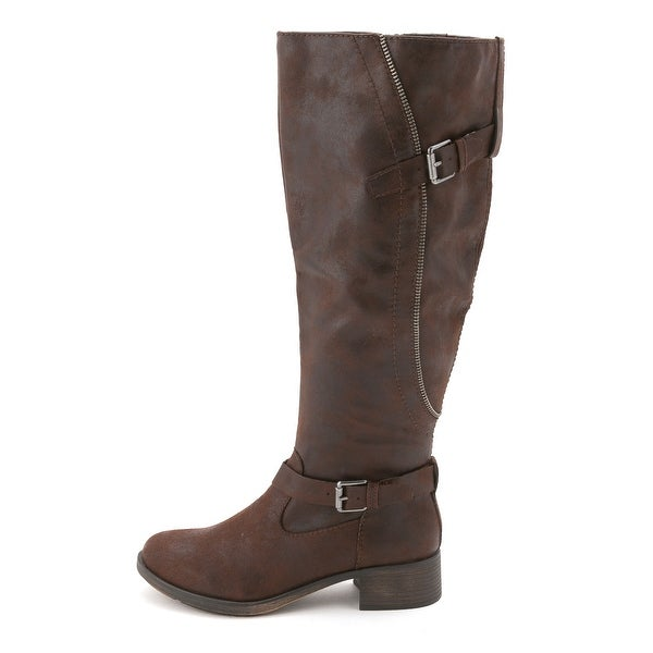 Style & Co. Womens GAYGE Almond Toe Knee High Cowboy Boots