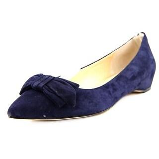 Ivanka Trump Catrina Women Pointed Toe Leather Blue Flats