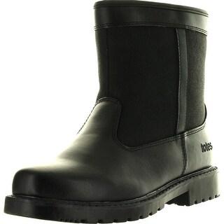Totes Mens Stadium Winter Waterproof Snow Boots - Black