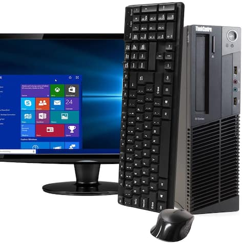 Lenovo M92 Intel i5 8GB 512GB SSD Windows 10 Pro WiFi Desktop PC - Black