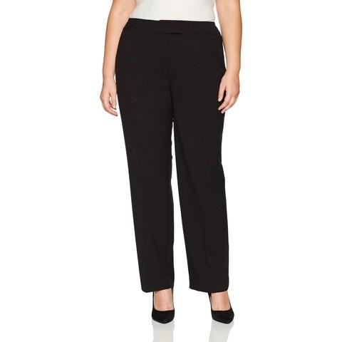Jones York Black Womens Size 12X32 Straight Dress Pants Stretch