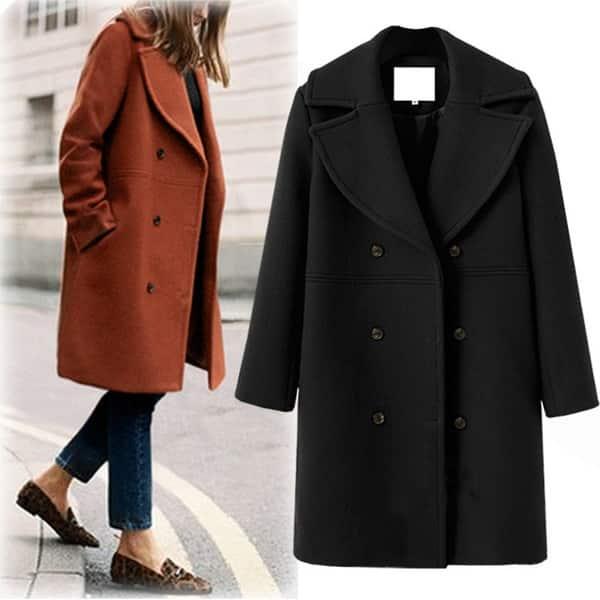 Women's Wool Coat - Overstock - 27428420