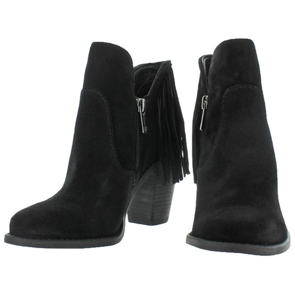 Cecila Suede Ankle Booties Fringe