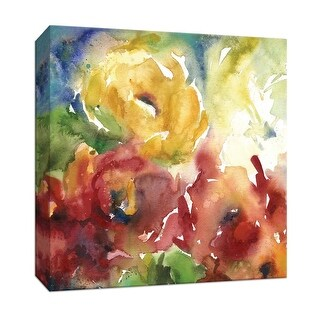"PTM Images 9-146801  PTM Canvas Collection 12"" x 12"" - ""Summer Wash I"" Giclee Flowers Art Print on Canvas"