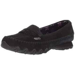 Skechers Womens Bikers Lane Suede Closed Toe Loafers