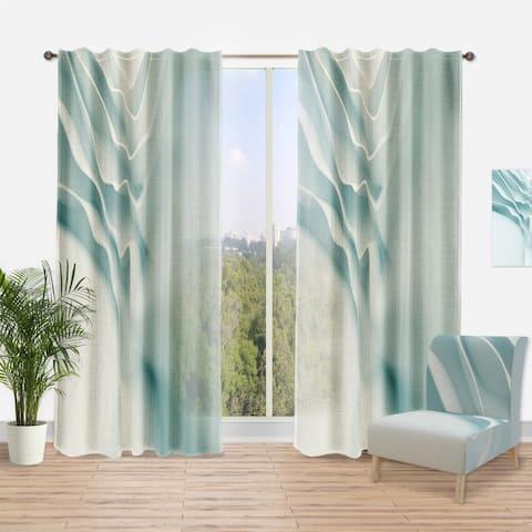 Designart '3D Light Blue Abstract Architecture' Modern Curtain Panel