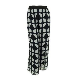 Alfani Women's Wide Leg Elastic Waist Pants