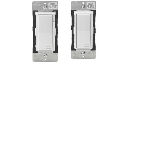 Leviton Decora Smart Wi-Fi 600W Universal LED/Incandescent 300W Dimmer (2 Pack) - White