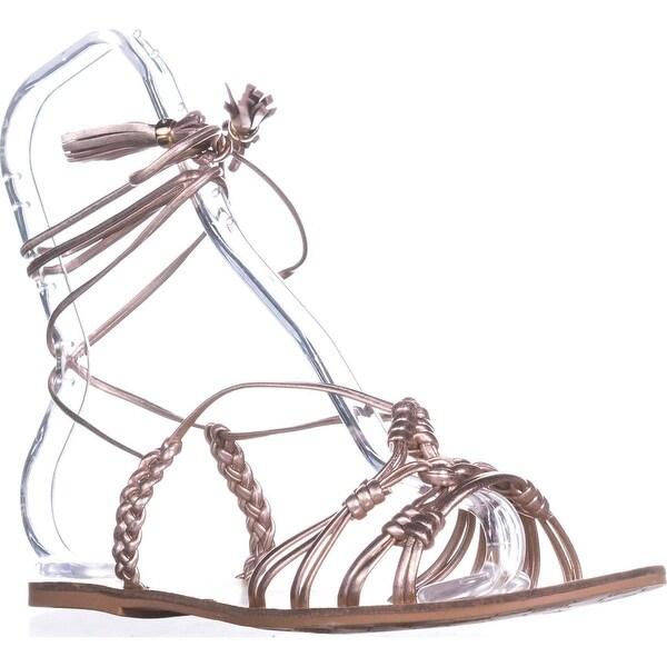Nanette Lepore June Gladiator Sandals, Rose Gold