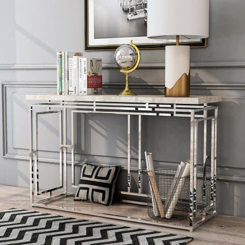 Furniture of America Angelina Contemporary Sofa Table