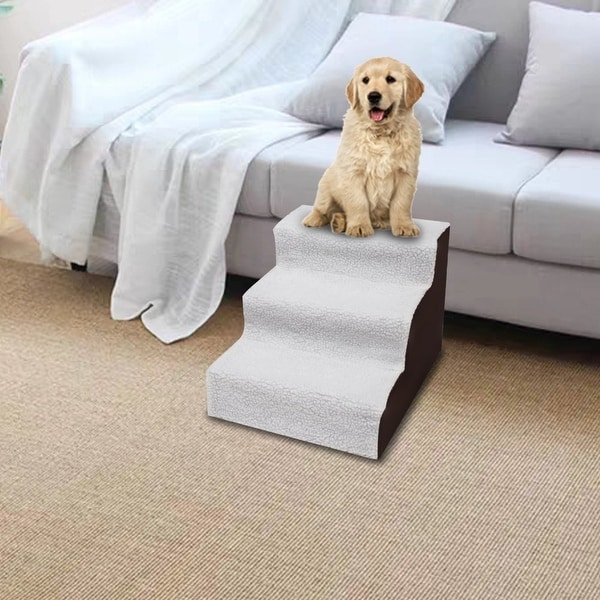 3 Step Black Plush & Velvet Suede Pet Stairs Pet Step Stairs Cat Dog. Opens flyout.