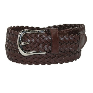 CTM® Boys' Leather Braided Dress Belt (Pack of 2)