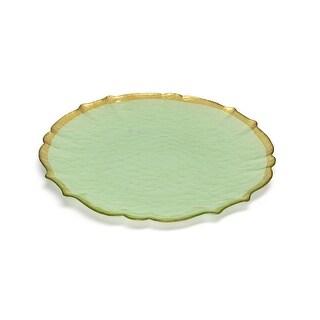 Set of 4 Green Alabaster Plates