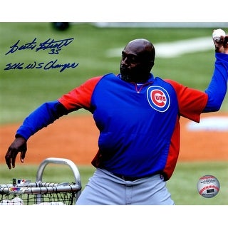 Lester Strode Chicago Cubs Throwing Batting Practice 8x10 Photo w2016 WS Champs