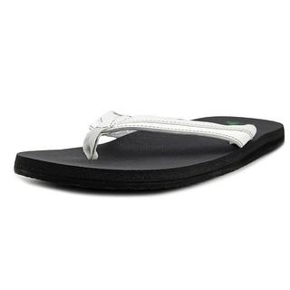 Sanuk Beer Cozy Light Men  Open Toe Synthetic White Flip Flop Sandal