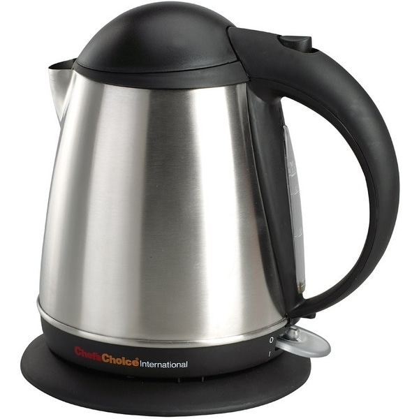 Chef's Choice 6770001 Cordless Electric Kettle, Stainless Steel, 1500 Watts