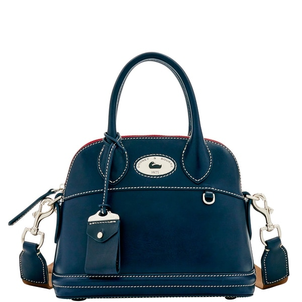 Dooney & Bourke Florentine Toscana Small Domed Satchel (Introduced by Dooney & Bourke at $368 in Sep 2016) - Navy