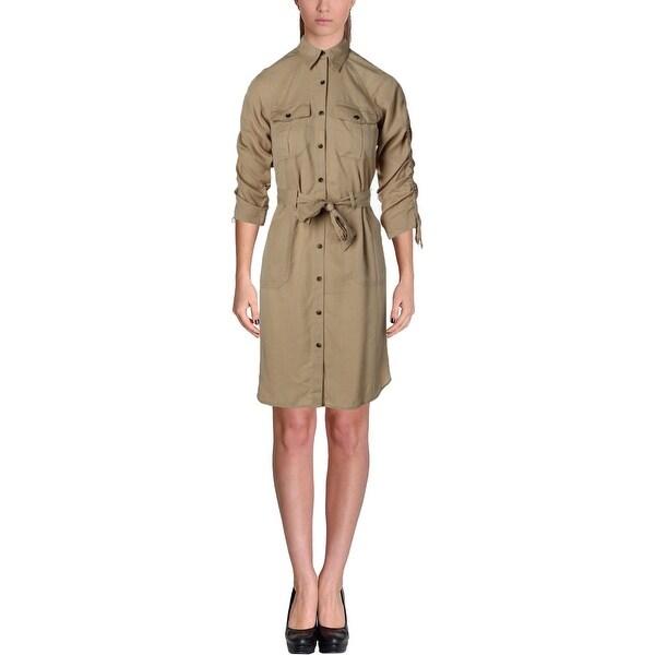 Lauren Ralph Lauren Womens Shirtdress Twill Button-Down