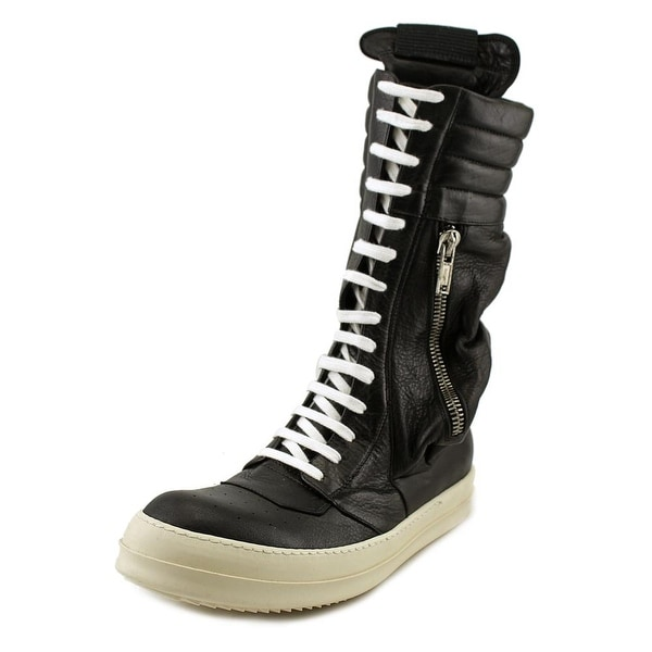 80ba660ecd5e Shop Rick Owens Cargo Basket Boot Women Round Toe Leather Black Boot ...