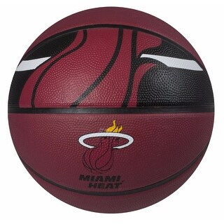 "Spalding SP-73071 NBA Courtside Miami Heat 29.5"" Outdoor Rubber Basketball"