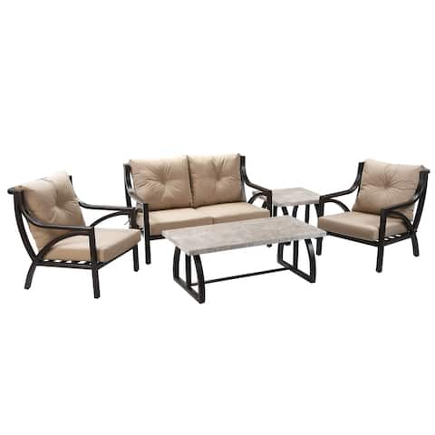 5-Piece Carlton All Weather Patio Set - N/A