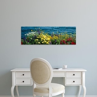Easy Art Prints Panoramic Images's 'Leman Lake Montreux Switzerland' Premium Canvas Art