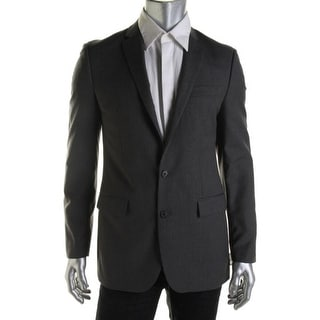 Ryan Seacrest Mens Wool Pinstripe Two-Button Blazer - 42S