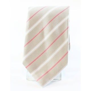 Vince Camuto NEW Natural Beige Men's Thin Striped Print Neck Tie