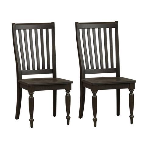 Harvest Home Chalkboard Slat Back Side Chairs (Set of 2)