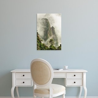 Easy Art Prints Adam Jones's 'Yellow Mountain 3' Premium Canvas Art