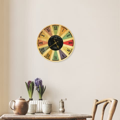 Walplus Colored Romans Numeral Wall Clock Black Decoration Home Decor