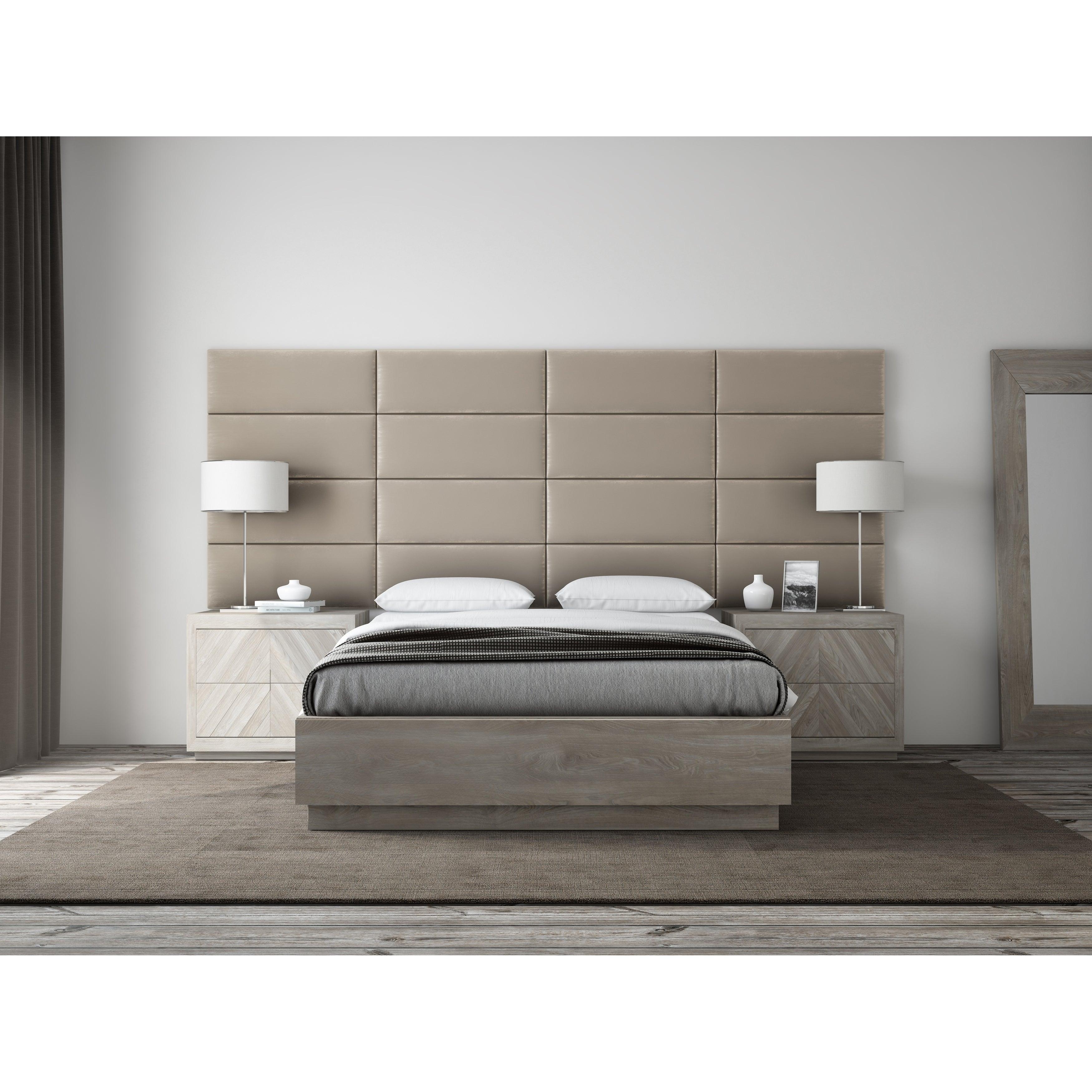 Headboards Footboards Plush Tan Velvet Velvet Upholstered Wall Panels Headboard Home Furniture Diy Tallergrafico Com Uy