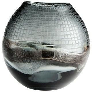 "Cyan Design 09969  Axiom 7-1/2"" Diameter Glass Vase - Mystique"
