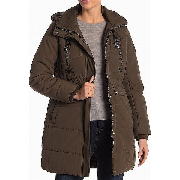 Lucky Brand Olive Green Womens Size Small S Hooded Parka Coat